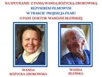 Projekcja filmu o Doktor Wandzie Błeńskiej