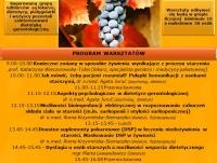 Warsztaty z podstaw dietetyki gerontologicznej - edycja II